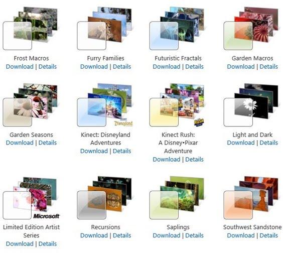 Tema Windows 7 dan Windows 8