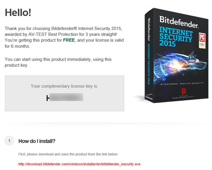 Bitdefender Internet Security 2015 Gratis