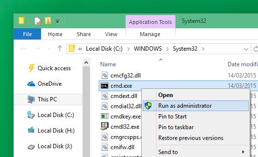 Windows32 Command Prompt