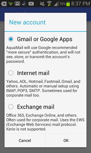 Aplikasi Aqua Mail