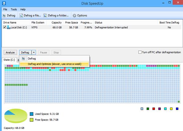 Tampilan Freeware Disk SpeedUp
