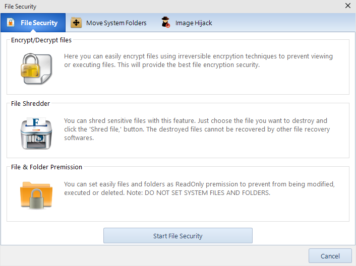 Windows 10 Manager (File Security)