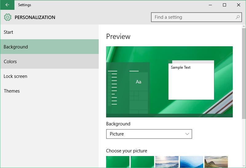 Buka Jendela Personalization