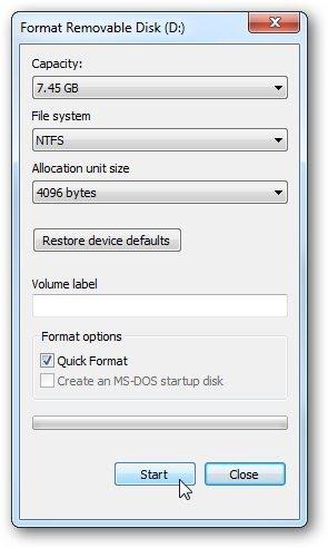 Install Windows 7 dari fllashdisk