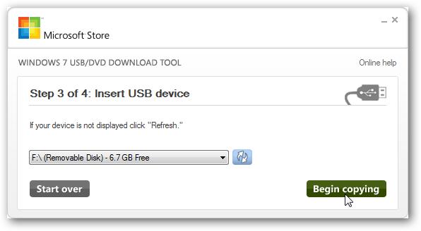 Pilih Flashdisk Windows 7