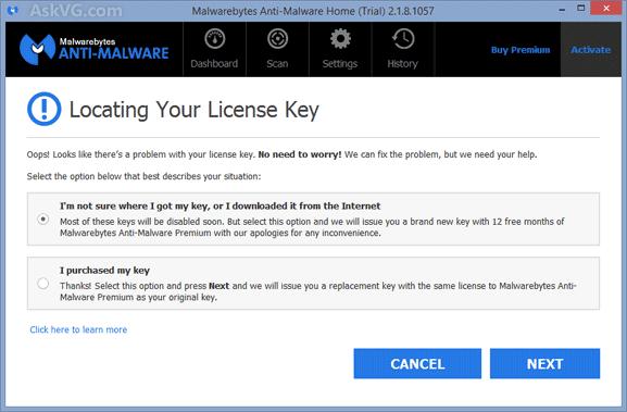 License Key Malwarebytes Anti-Malware Premium