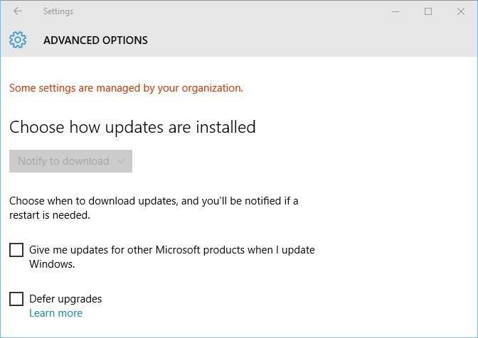 Pesan Windows update