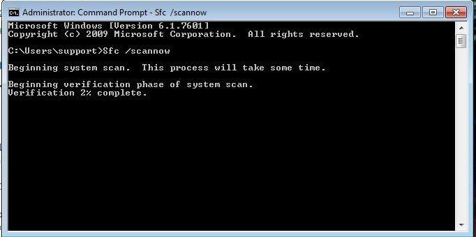 Proses System File Checker
