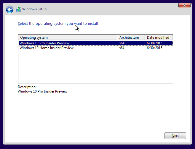 Versi Windows 10