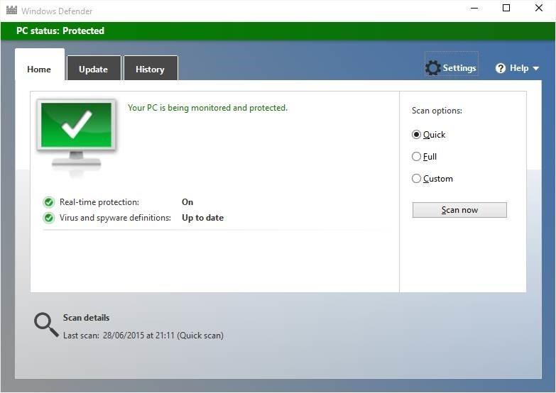 Windows Defender Windows 10