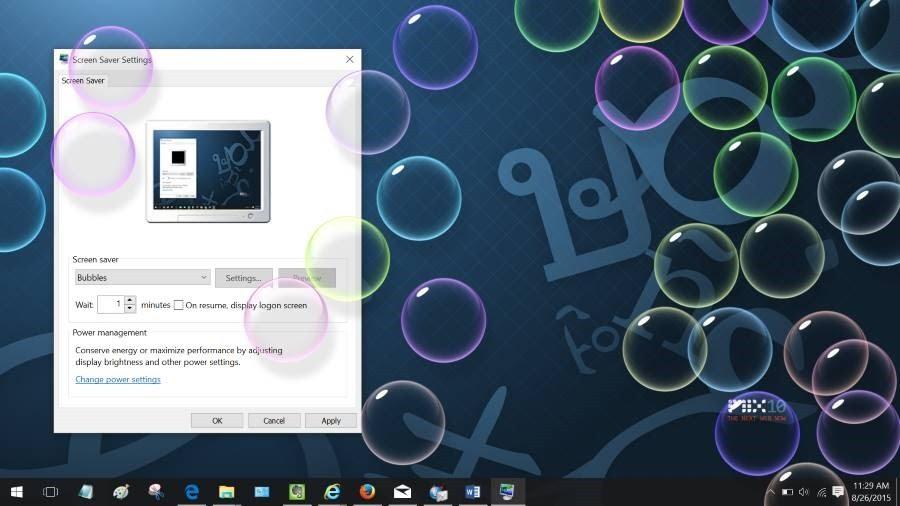 Screen Saver Windows 10