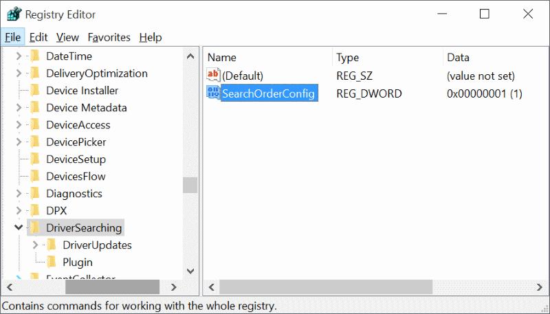 Kunci Registry Mematikan Update Driver Windows 10