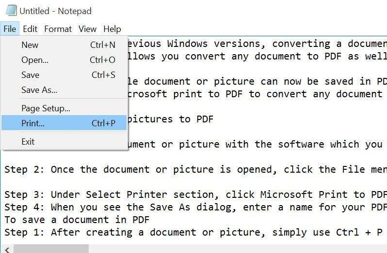Save File Text ke PDF
