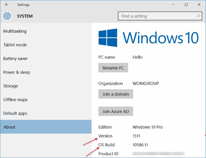 Cek November Update Windows 10