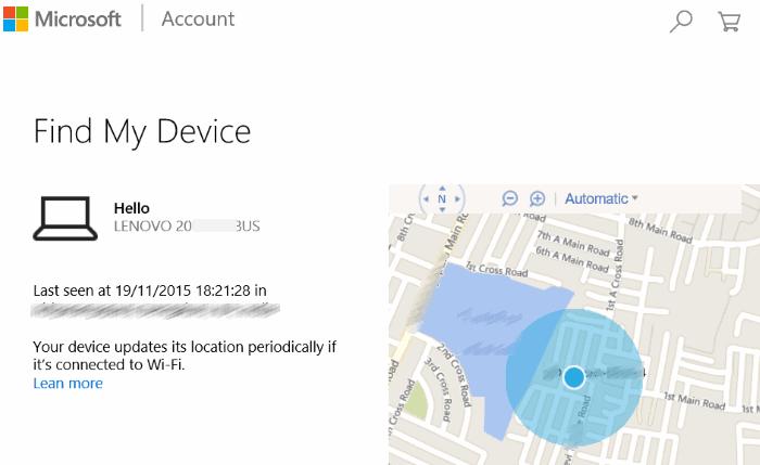 Find My Device Web Microsoft