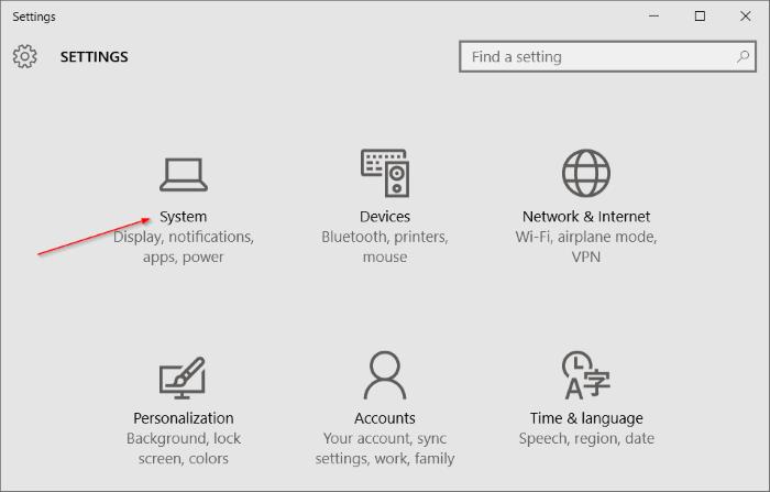 Isi Settings Windows 10