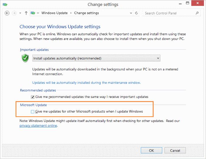 Mematikan Update Produk Microsoft