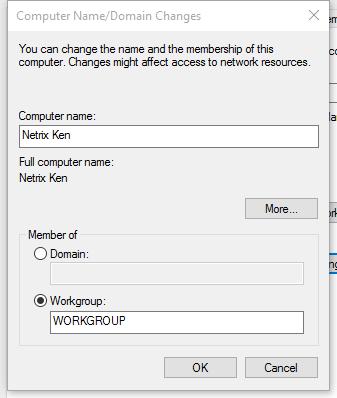 Mengubah Computer Name Windows 10
