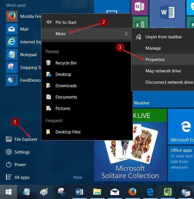 More File Explorer Start Menu