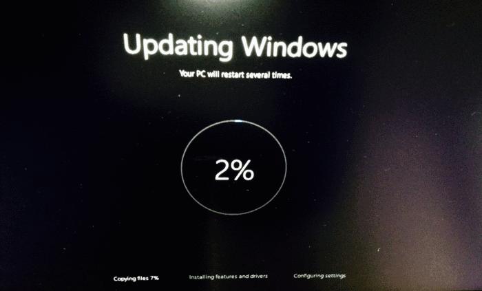 Proses November Update Windows 10