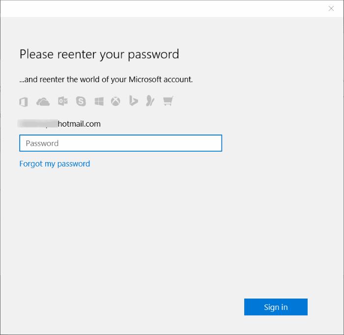 Memasukan Password Windows 10