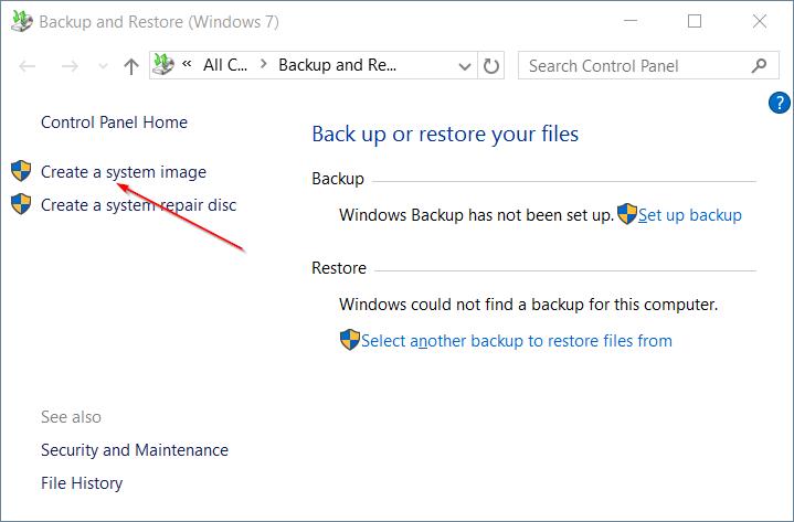 Membuat Backup - Create a system image