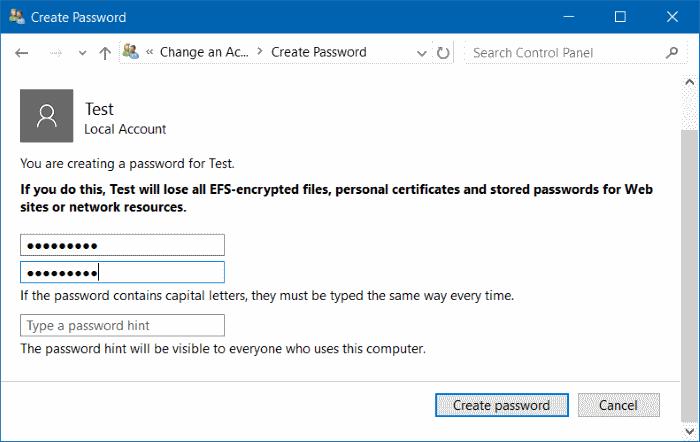 Membuat Password di Windows 10