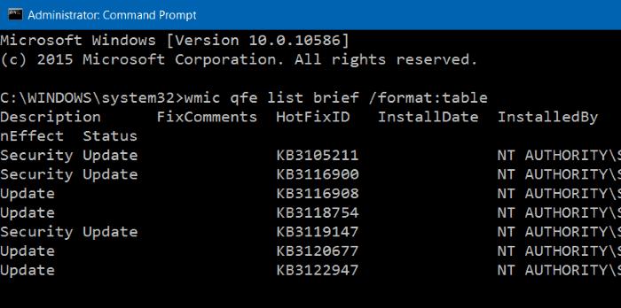 Menampilkan Update Windows 10 Melalui Command Prompt