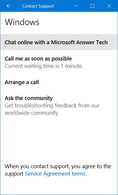 Menghubungi Contact Support Microsoft