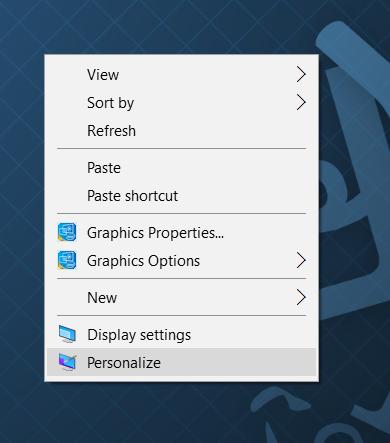 Klik Kanan Desktop Personalize