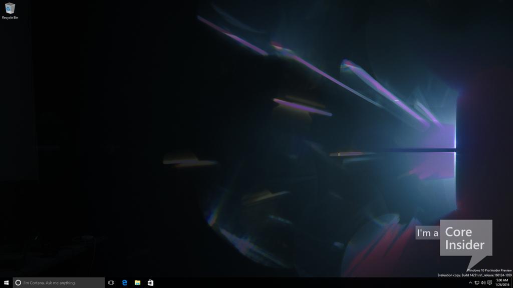 Windows 10 build 14251 Redstone 1