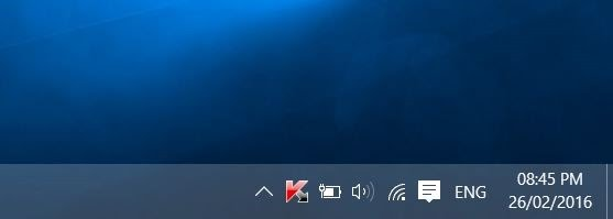 Jam di taskbar Windows 10