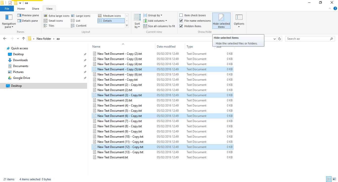 Menampilkan Hidden File di Windows 10