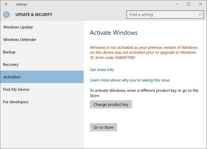 Activation Windows 10 (belum diaktifkan)