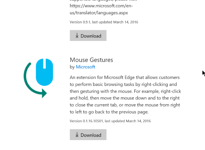 Download Extension Microsoft Edge