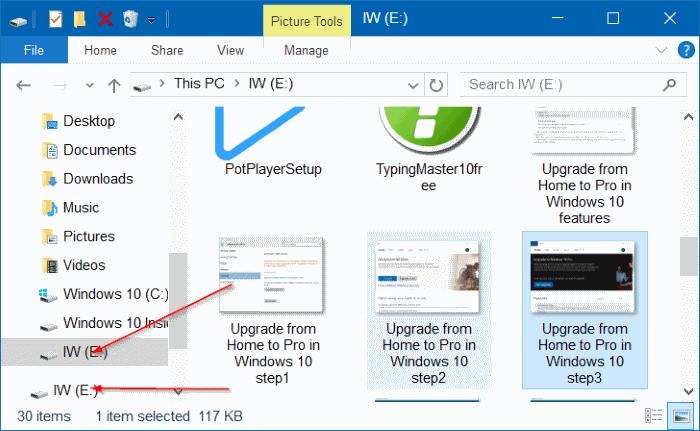 Flashdisk tampil dua kali di File Explorer