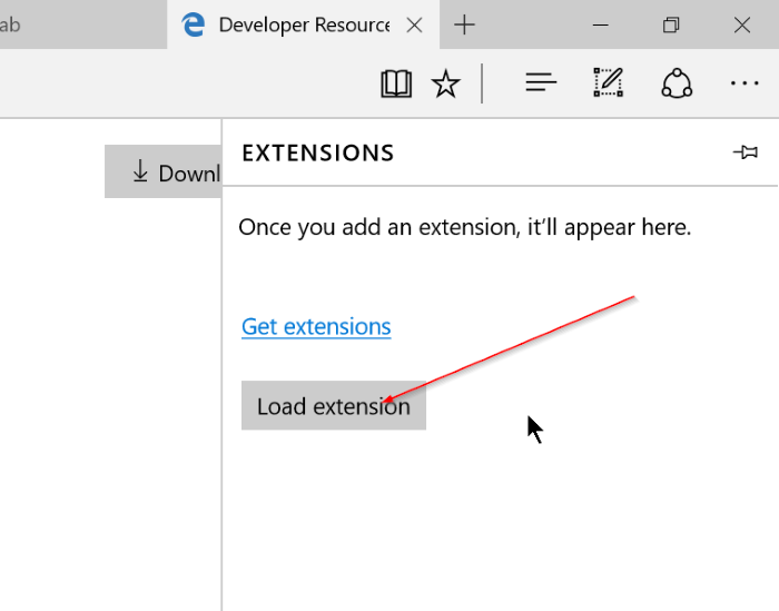 Microsoft Edge - Load Extension