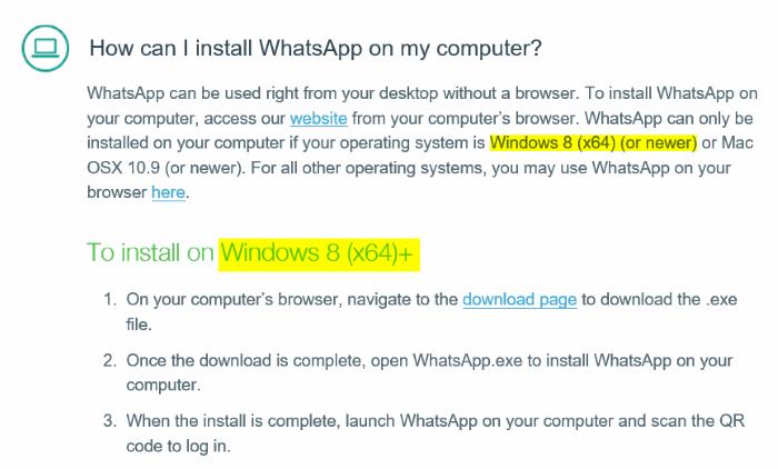 Kompabilitas WhatsApp