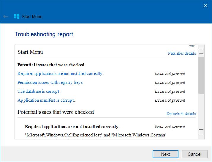 Memperbaiki Start Menu Windows 10