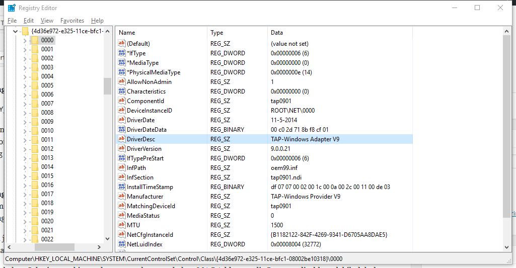 Mengubah MAC Address (Registry Editor)