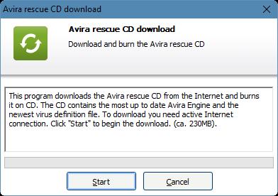Rescue CD Avira