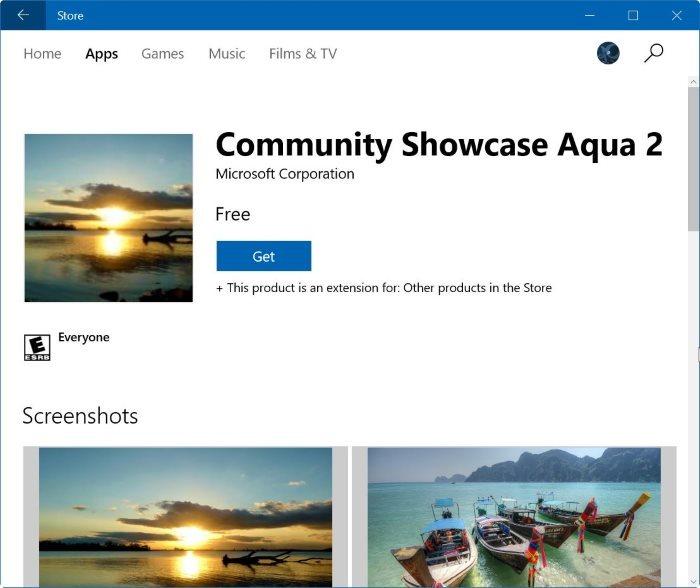 Install Themes Windows 10 via Store