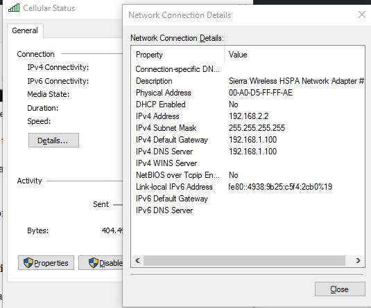 Details - Connection Status